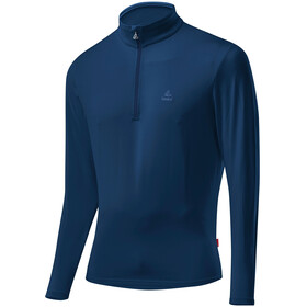 Löffler Basic CF Transtex Sweat-shirt Zip avec col montant Homme, nautilus